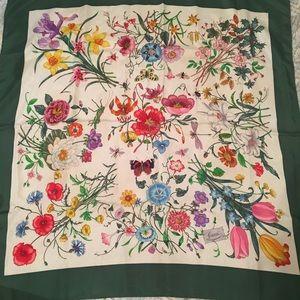 Gucci Silk Floral Scarf